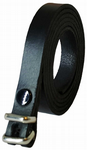 "12.5 mm Black Snap Fit Leather Belt (½"")"